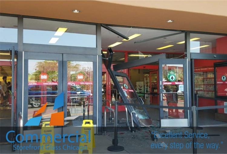 chicago commercial storefront glass replacement window door 42