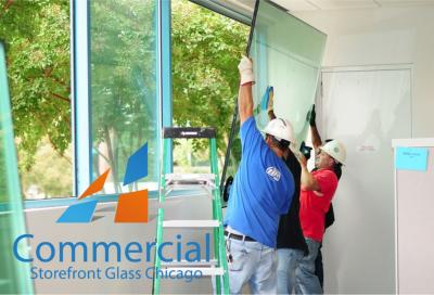 chicago commercial storefront glass replacement window door 51
