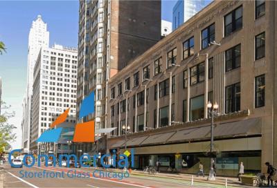 chicago commercial storefront glass replacement window door 65